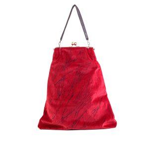 borsa a spalla grande slim rosso