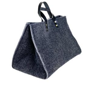 bauletto grande in lana cotta grigio antracite