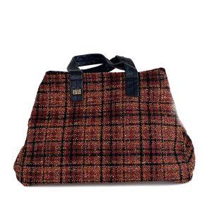 bauletto tessuto lana scozzese