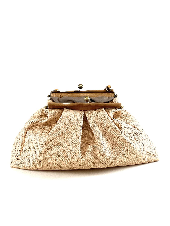 borsa bauletto in paglia naturale