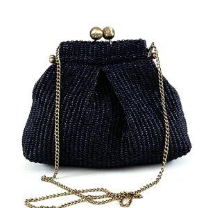borse di paglia nera