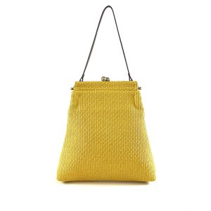 borsa di paglia artigianale giallo
