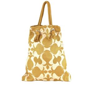 shopping bag cotone senape