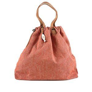 shopping lino e cotone arancio
