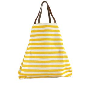 maxi shopping a righe gialla