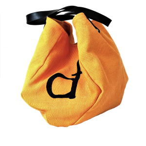 shopping bag in tessuto arancione